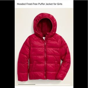 Old Navy frost Free hooded puffer jacket Coat girl